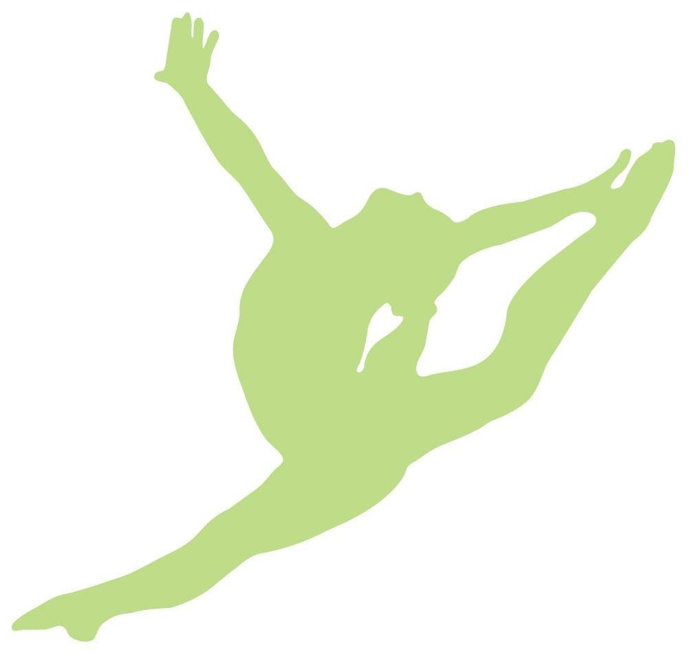 1000x951 Wallmonkeys Gymnastics Silhouette Style Graceful Wall