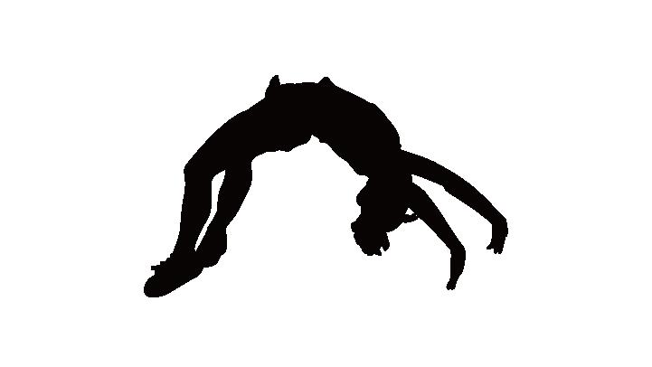 721x406 Cheerleading Silhouette Tumbling Gymnastics Clip Art