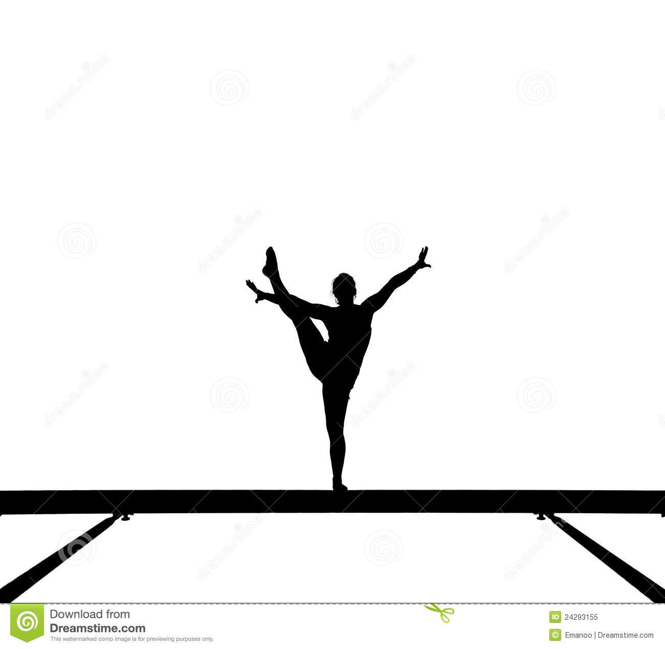 1300x1267 Girl Gymnastics Clipart Silhouette