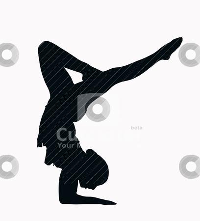 408x450 Gymnastics Clipart Black And White Splits Clipart Panda