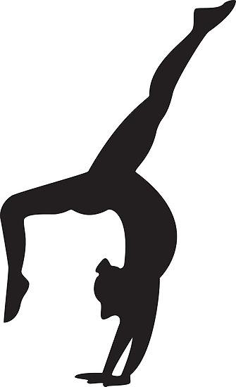 335x550 Gymnastics Clipart Silhouette Split Clipart Library