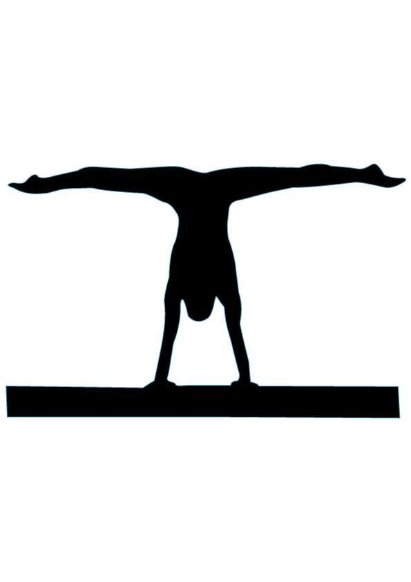 595x842 Gymnastics Silhouette