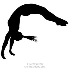 236x236 Female Gymnast Silhouette Executing A Split Female Gymnast