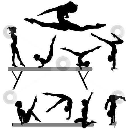 450x450 Free Printable Gymnastic Silhouettes To Use This Stock Image