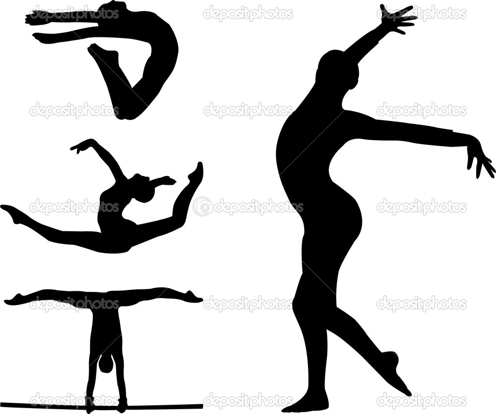 1024x854 Girl Gymnastics Clipart Silhouette