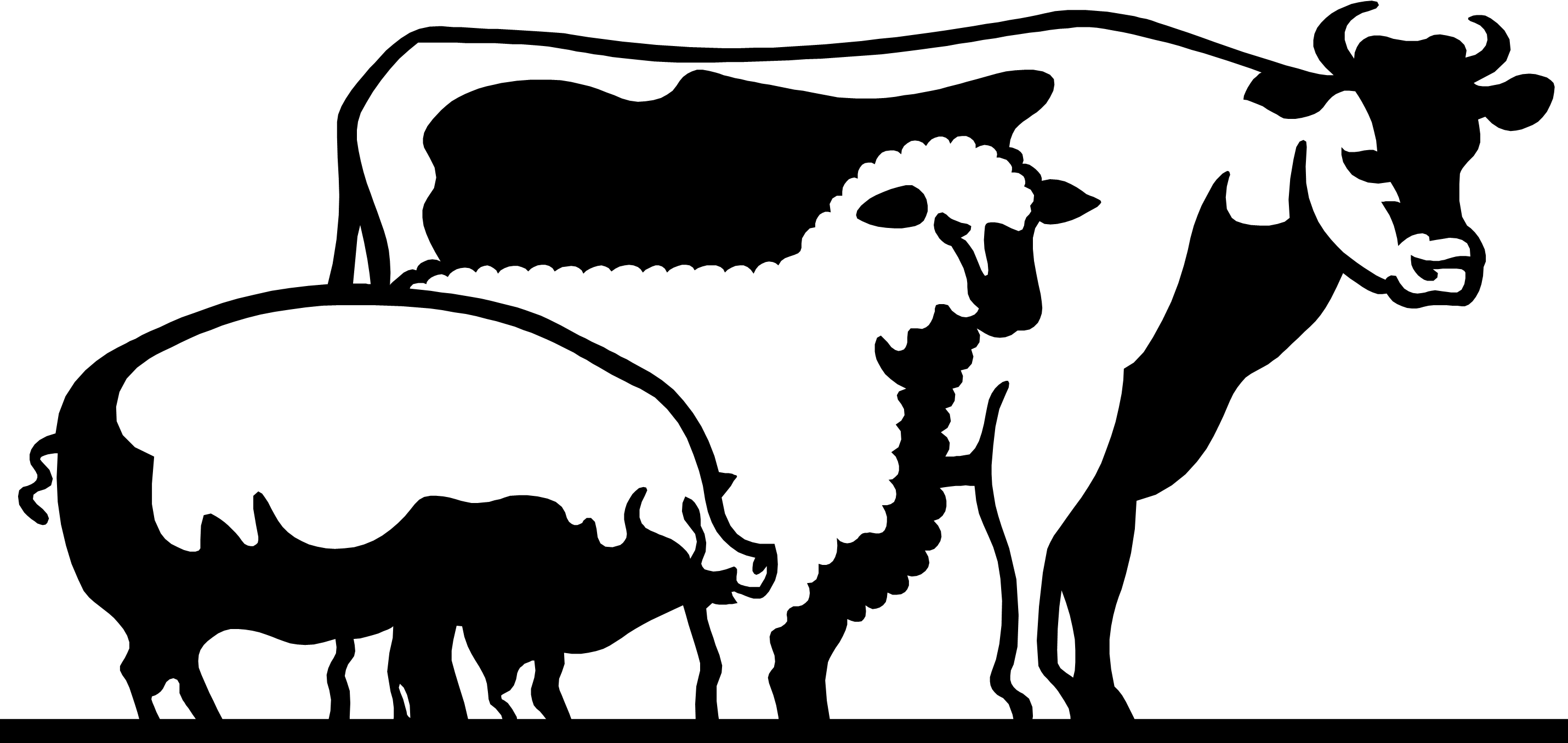 2860x1356 4 H Livestock Of Clipart