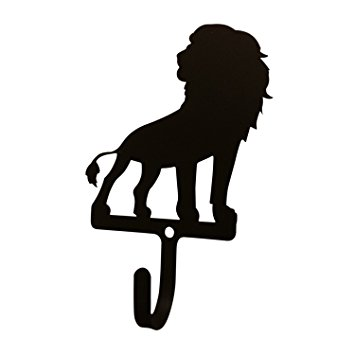 355x355 H 278 S Lion Silhouette Black Metal Decorative Small