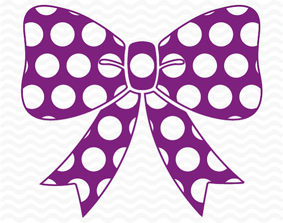 570x450 Polka Dot Bow Design, Svg, Dxf,eps, Cutting Files For Use
