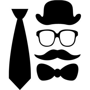 300x300 Silhouette Design Store Assorted Gentleman Dress Up Accessories