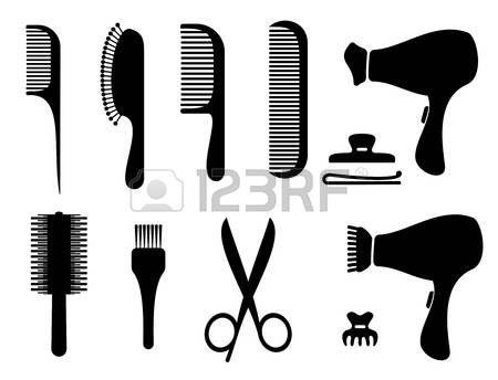 450x344 Hair Salon Silhouette Icons Photo