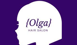 322x189 Deep Violet Girl Silhouette Hair Salon Business Card