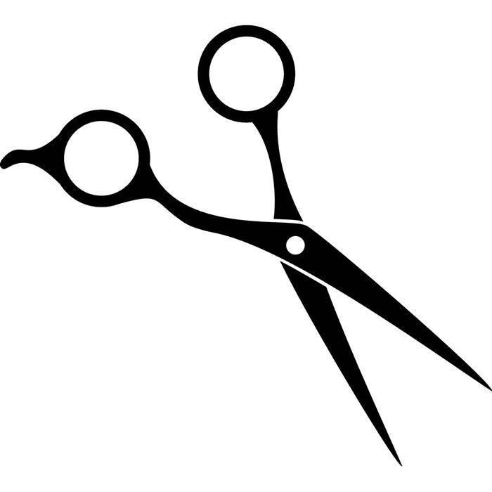 700x700 Hair Scissors Silhouette Vector