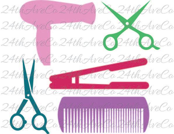 596x459 Combs Thread Cutting Clipart