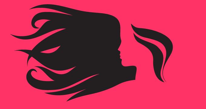 680x363 Girls Hair Silhouette Designers Revolution Premium Vector Stock