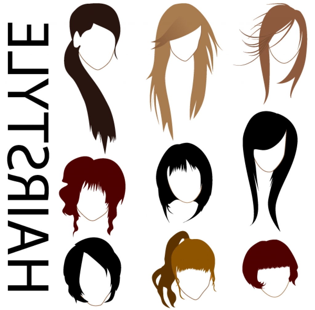 1024x1006 Hairstyles Vector Women Hairstyle Silhouette Vector Free Vector
