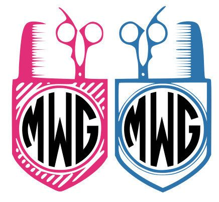 436x402 Hair Stylist Monogram Designs, Svg, Dxf, Eps, Vinyl Cutting Files