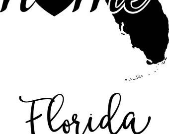 340x270 Florida Outline Map Etsy