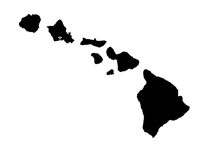 1500x1114 Hawaii Clipart Map