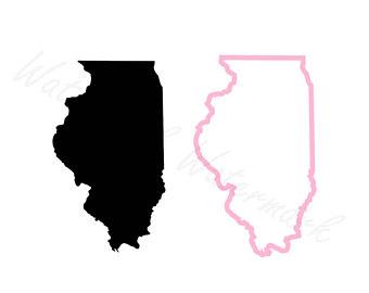 340x270 Illinois Outline Etsy