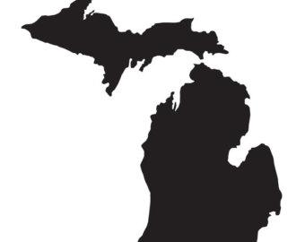 340x270 Michigan Silhouette Etsy