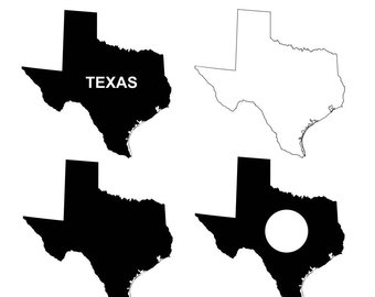 340x270 Texas Outline Svg Etsy