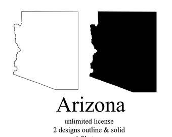 340x270 Arizona Outline Svg Etsy