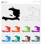 150x160 Bulgaria High Detailed Map. Country Silhouette Icon. Isolated