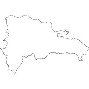 300x300 Dominican Republic Map Outline