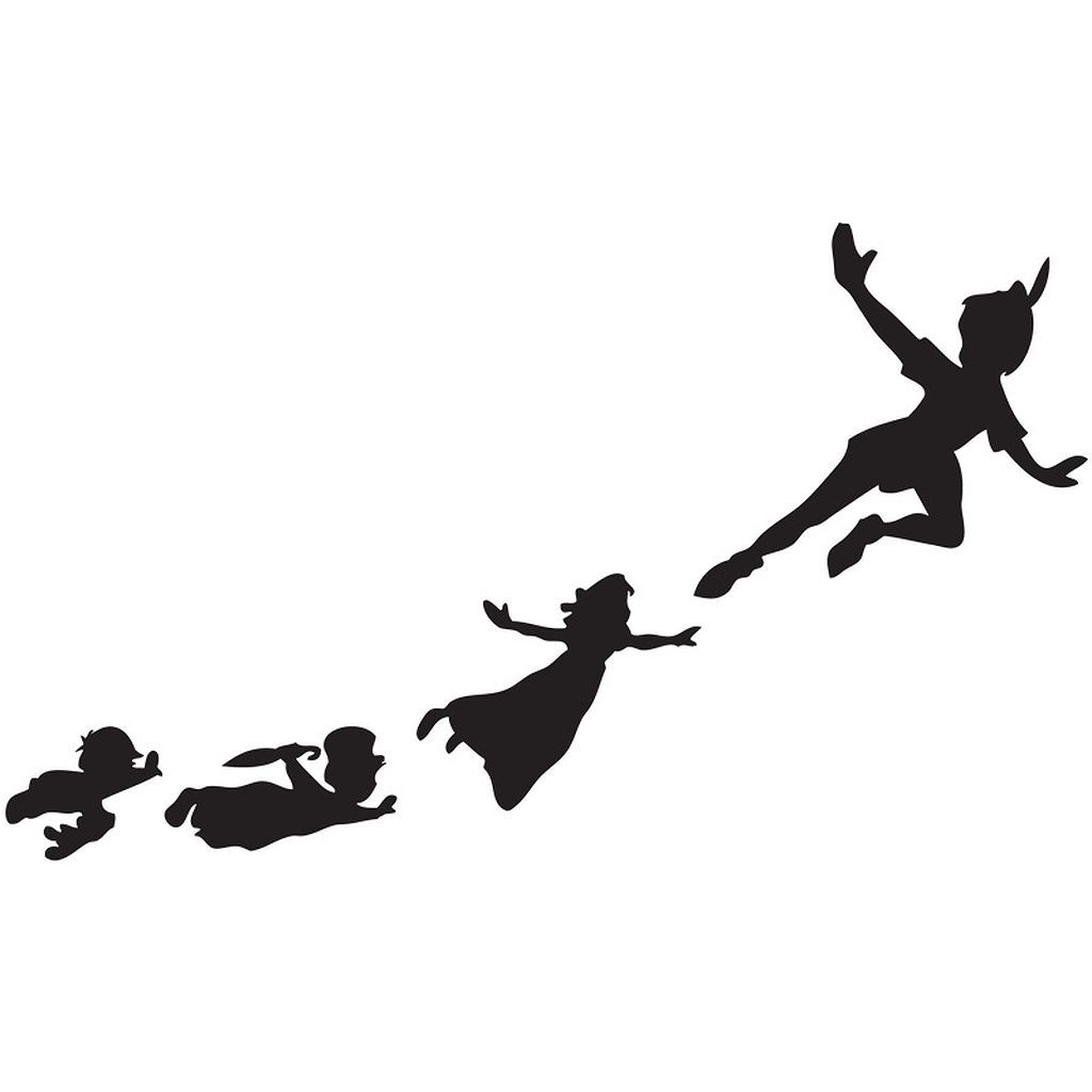 1024x1024 58 Peter Pan Shadow Wall Decal Ideas Peter Pan Shadow, Wall