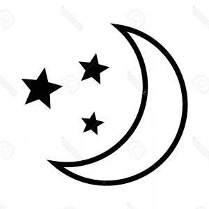 half moon silhouette at getdrawings  free download