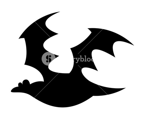 500x410 Scary Halloween Bat Shape Royalty Free Stock Image
