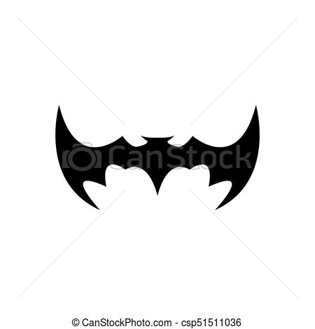 450x470 Vector Halloween Black Bat Animal Icon Or Sign Isolated