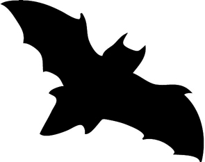 295x233 Halloween Bat Clipart Black And White Ghost Silhouette