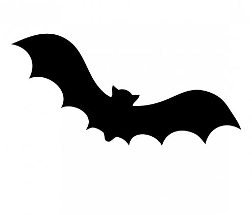494x420 Bat Silhouette Template. Bat Upside Down Stock Images Royalty Free