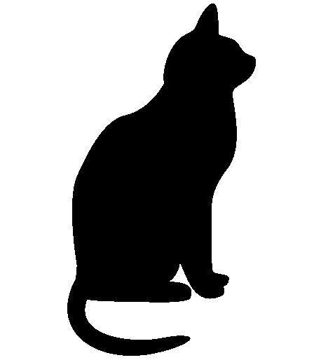 478x514 222 Views Silouettes Black Cat Silhouette, Cat