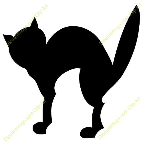 500x500 Halloween Black Cat Clipart