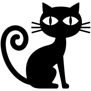 300x300 Halloween Black Cat Halloween Black Cat, Silhouette Design