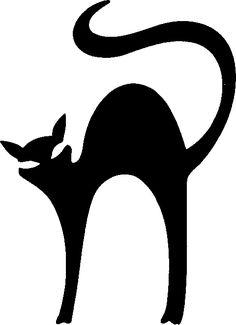 Halloween Black Cat Silhouette at GetDrawings | Free download