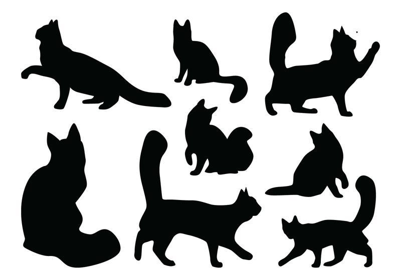 800x560 Cat Silhouette Vectors