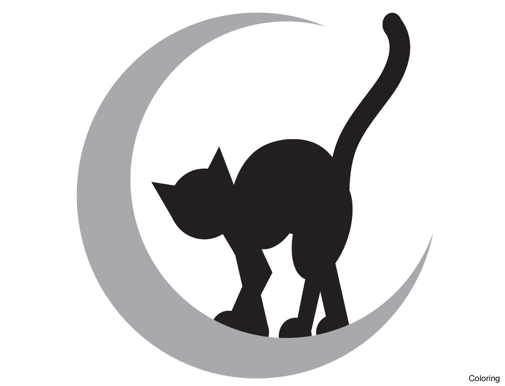 Halloween Black Cat Silhouette Pattern at GetDrawings.com | Free for ...