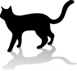 250x230 Halloween Black Cat Silhouette Clipart Panda