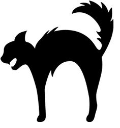 236x251 Scary Halloween Black Cat Silhouette Black Cats