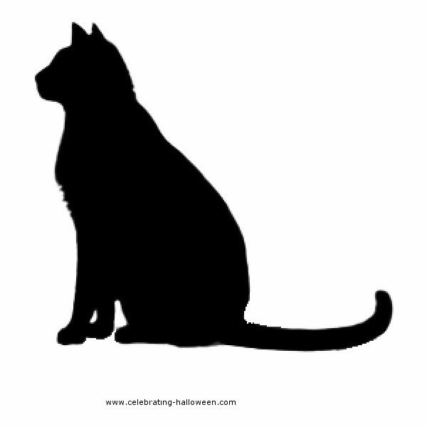 600x600 Stencil Cat Sitting Liked On Polyvore Featuring Cats, Animals