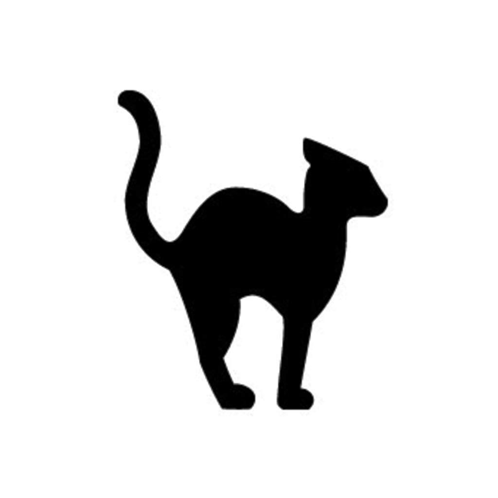 Halloween Black Cat Silhouette Pattern at GetDrawings ...