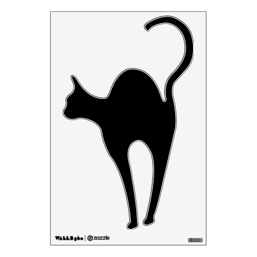 512x512 Black Cat Silhouette Clip Art