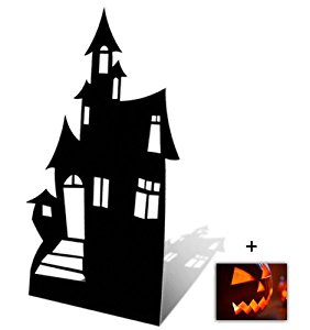 Halloween Haunted House Silhouette