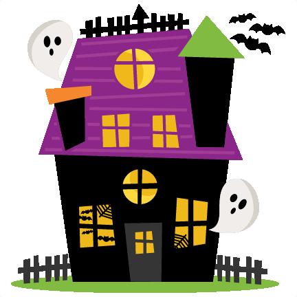 432x432 Haunted House Svg Scrapbook Cut File Cute Clipart Files