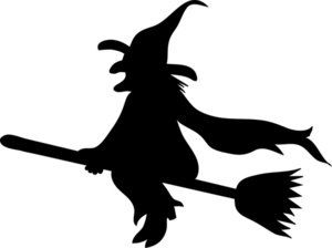 300x224 Intarsia Knitting Witch Silhouette, Knitting Graphs, Intarsia