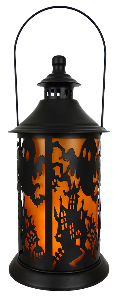 398x1000 Ghosts Over Haunted House Silhouette Light Lantern