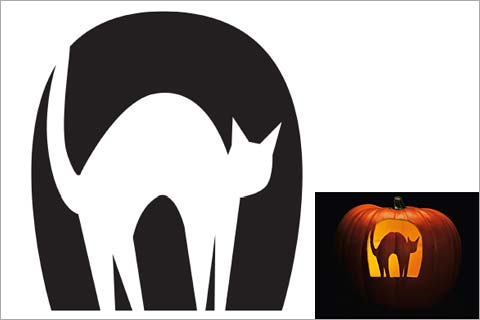 480x320 44 Spooky Cat Pumpkin Stencils You'Ll Love Carving This Halloween